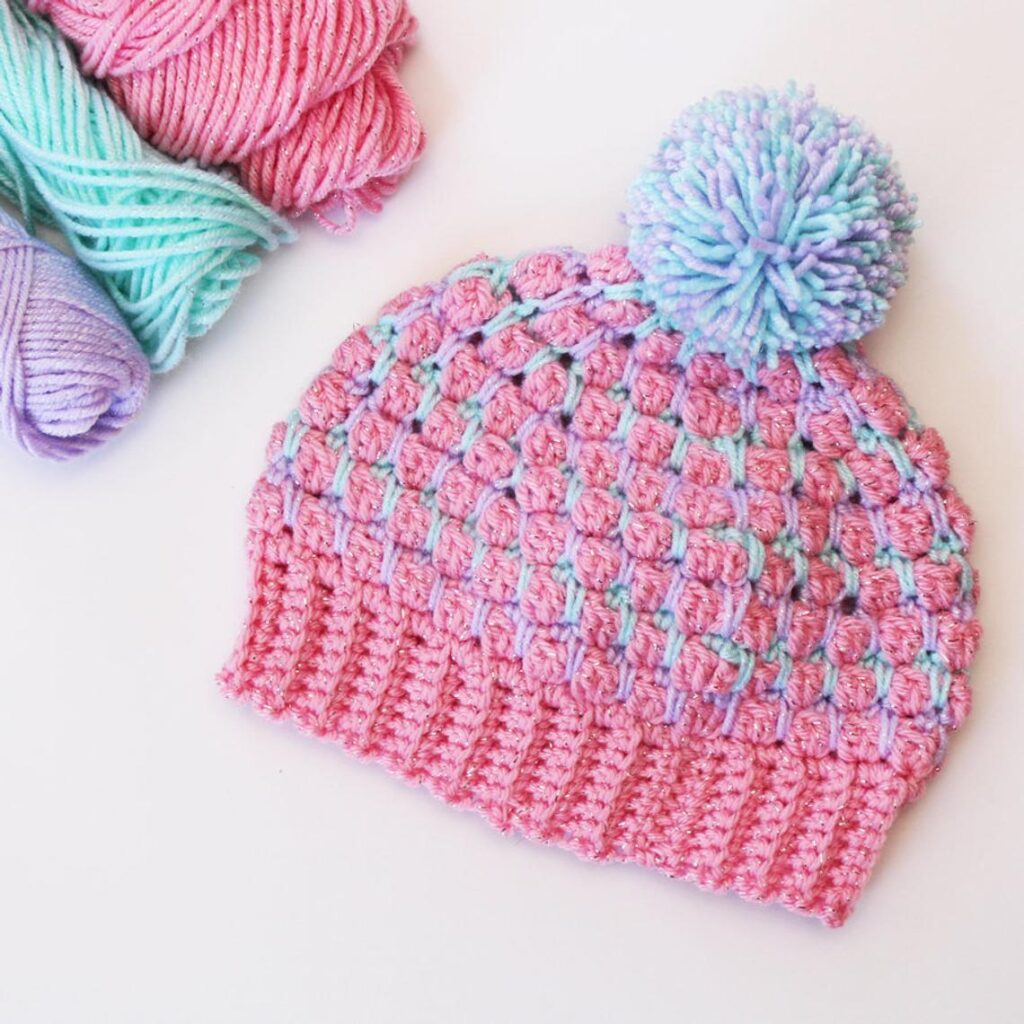 Cute & Colorful, The Avery Beanie Is Crochet Perfection For Any Kiddo Who Needs a Warm & Stylish Hat