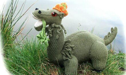 Knit a Jessie the Loch Ness Monster Designed by Suzannah Holwell and Georgina Manvell