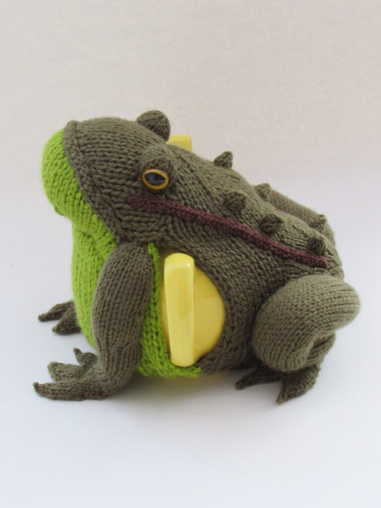 Knit a Delightful Frog Tea Cosy Designed by Susan Cowper, So Unique!