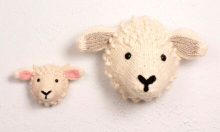 Knit Sheep Head … Fauxidermy Is Always Great Gift Idea!