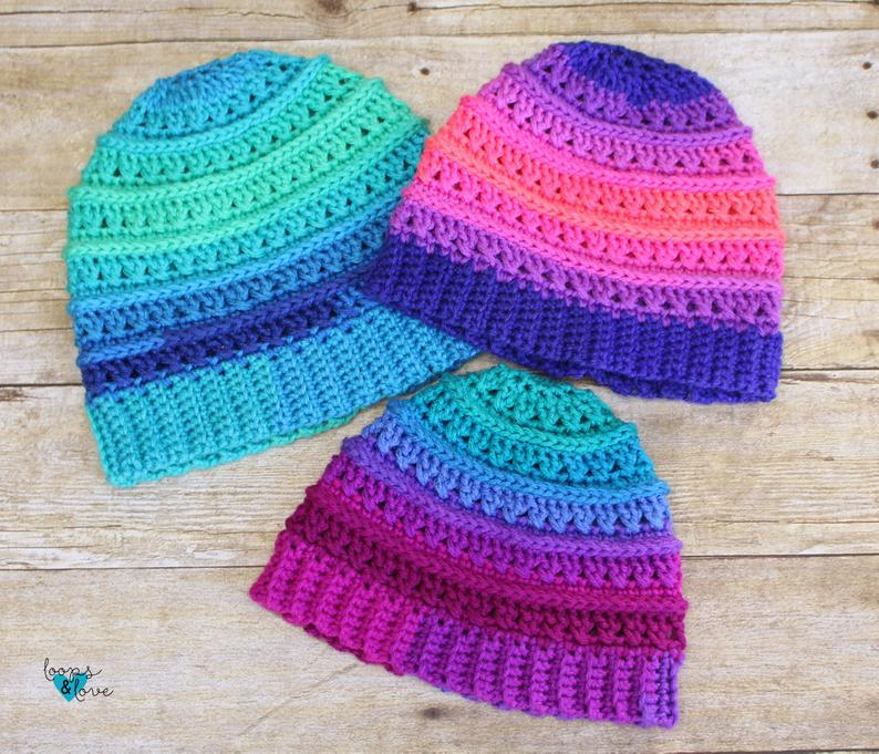 hat patterns designed by Amanda Molloy of Loops And Love Crochet #crochet