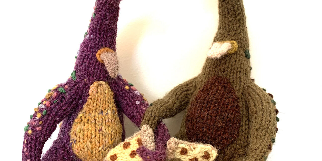 Knit A Kooky Cool Cyclops Monster With A Pizza Slice … You Know You Have To!