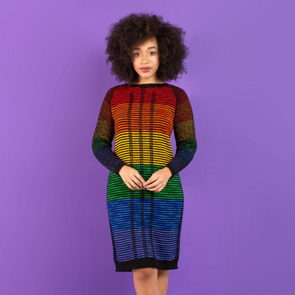 Kicks Off Pride Month With These Glamazon Patterns ... Can't Decide On A Dress And A Sweater? Knit 'Em Both!