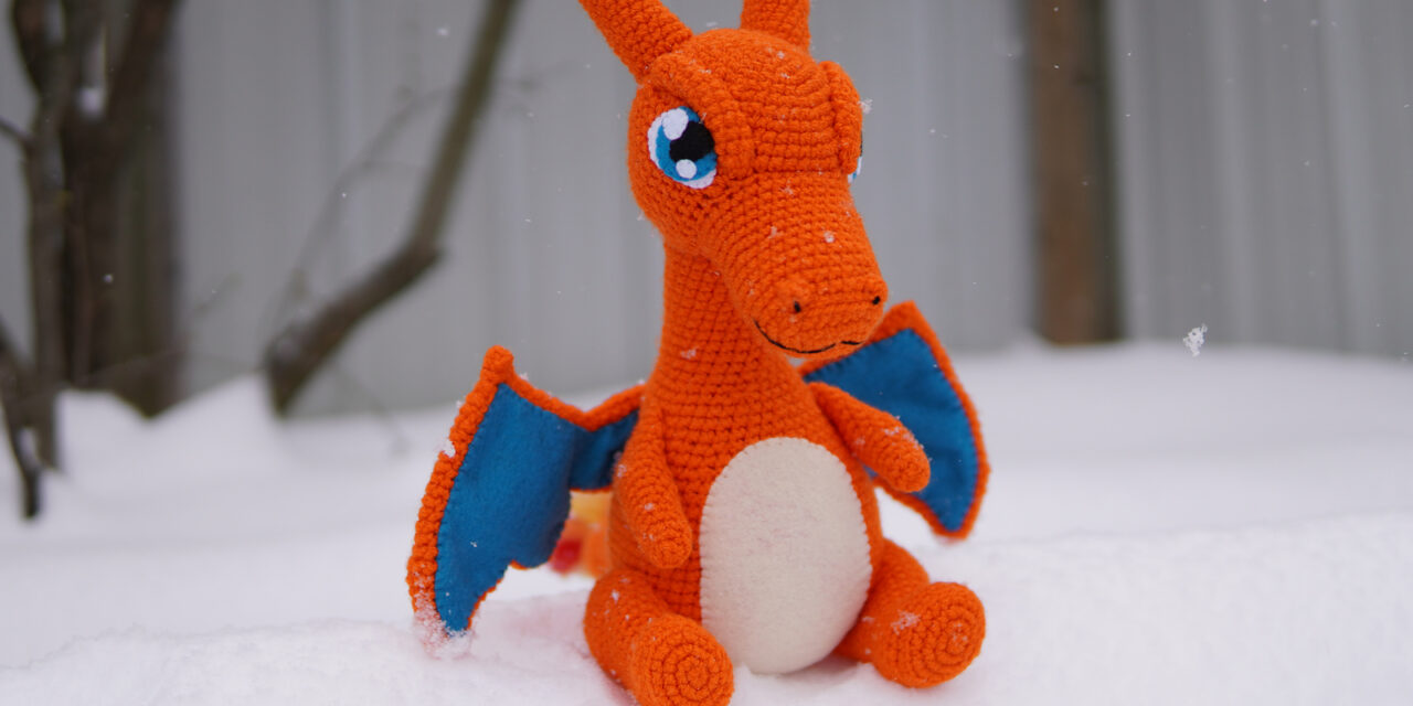 Crochet An Awesome Charizard Amigurumi, Free Pattern By Megan Bubbles