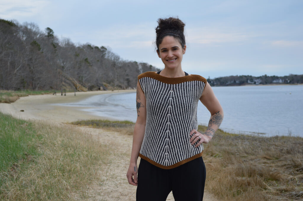 Knit A Sleeveless Stunner For Summer, Meet 'Flow State' Designed by Annie Lupton