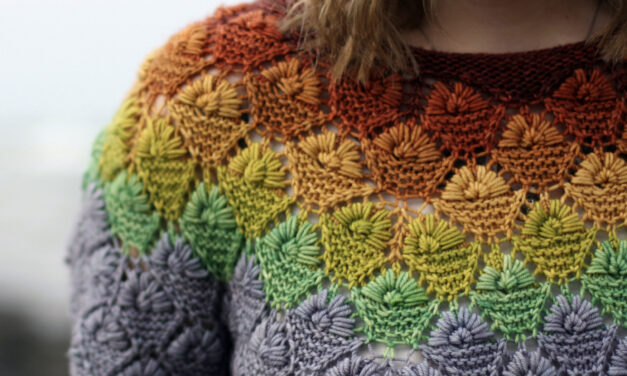 Knit A Colorful & Textured Rainberry T-Shirt … This Is *The* Definition Of Unique Knitwear