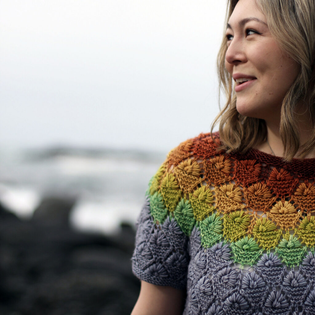 Knit A Colorful & Testured Rainberry T-Shirt ... This Is *The* Definition Of Unique Knitwear