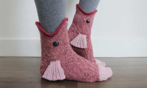 Here Fishy, Fishy, Fishy … This 'Catch of the Day' Sock Pattern By Emma Bermudez Is a Must Make!