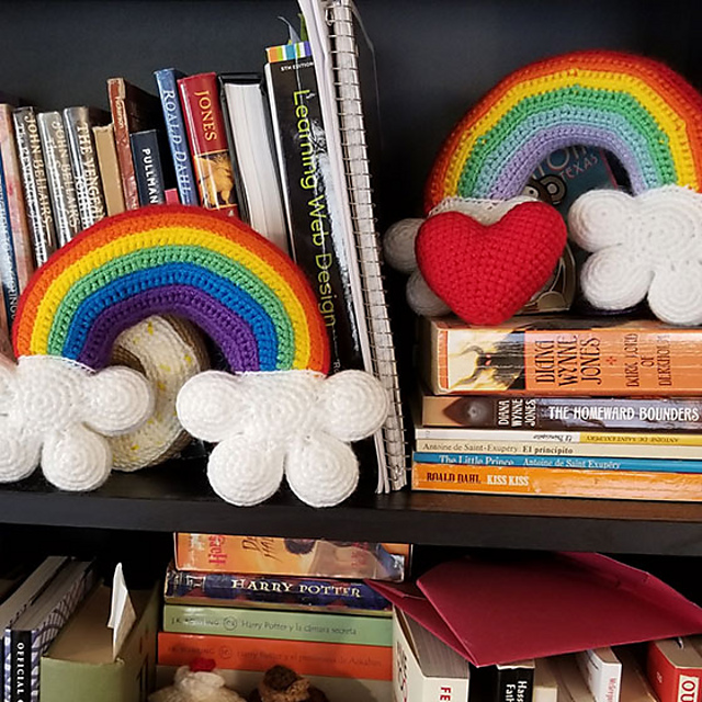 Free Rainbow Amigurumi Pattern With 3D Clouds … Crocheters, This Project Will Make Your Day!