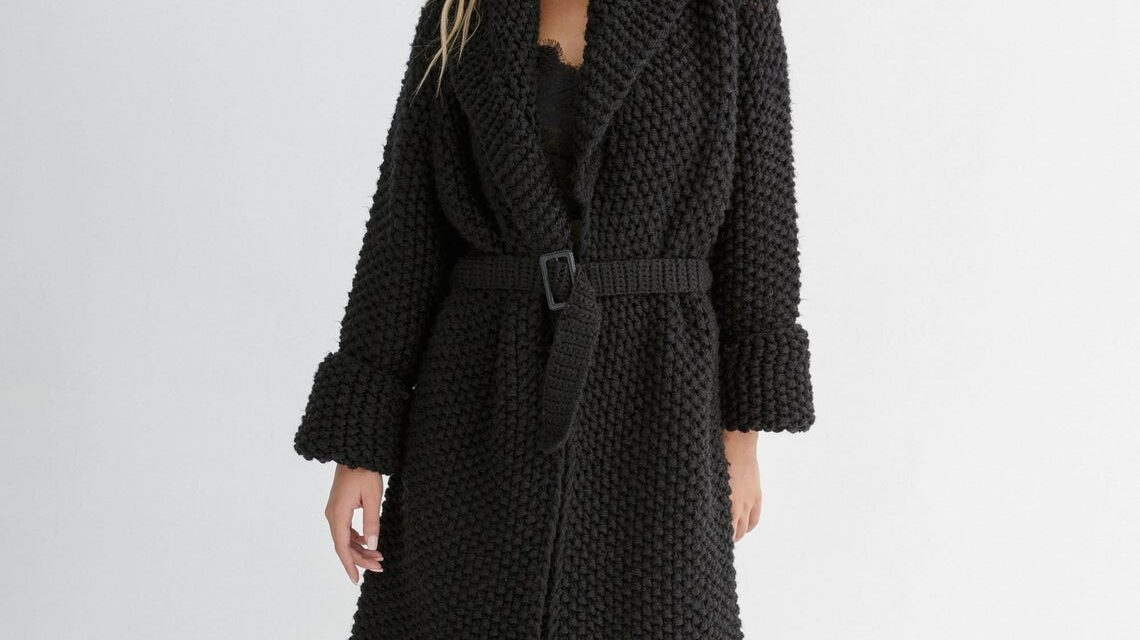 Knit An Oversized Cardigan Designed By Katerina Amprikidou Of Through The Stitch