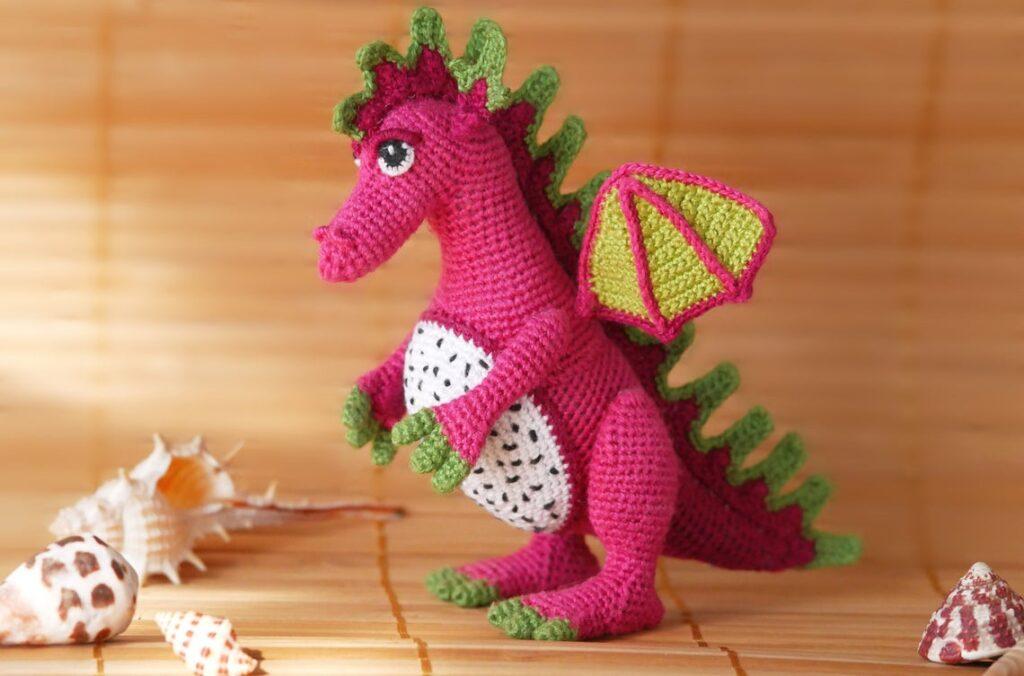 Crocheters Can Flip The Script With A Fun Fruit Dragon Amigurumi Pattern ... Inspired By Yummy Dragon Fruit!
