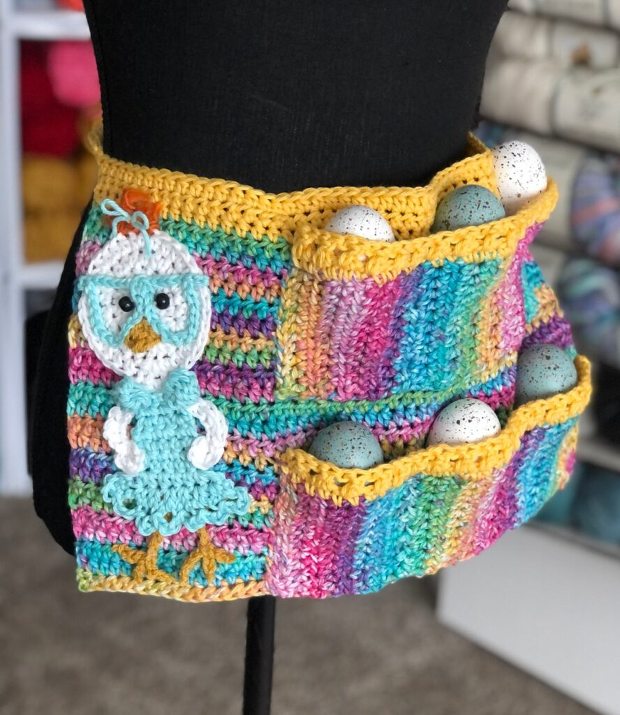 A Fresh Take On The Handmade Egg Apron ... Form & Function Meet Up On The Crochet Hook!