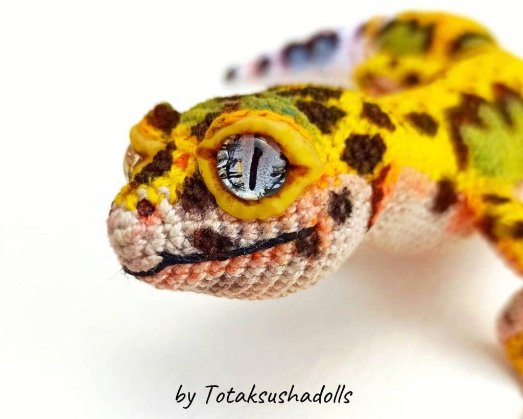 Incredible Leopard GeckoAmigurumi ... I'll Say It Again, Realistic Reptile is an UNDERSTATEMENT!