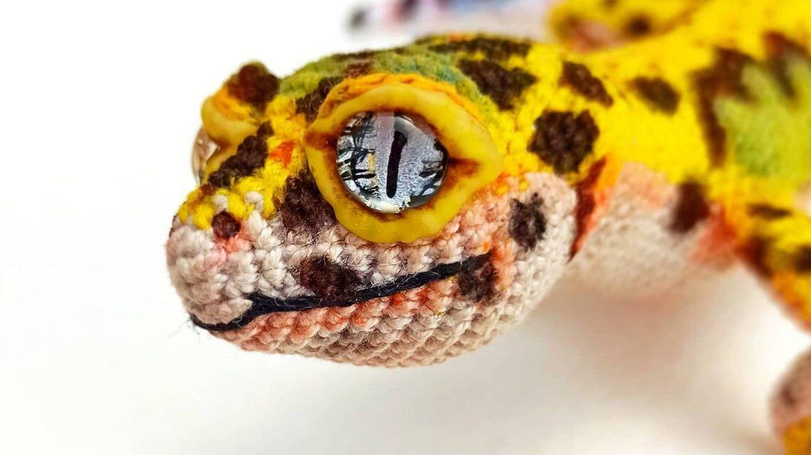 Incredible Leopard Gecko Amigurumi … I'll Say It Again, Realistic Reptile is an UNDERSTATEMENT!