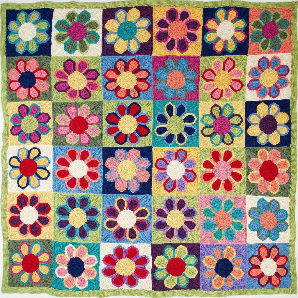Knit a 1960s-Inspired Flower Show Blanket Designed By Margaret Holzmann