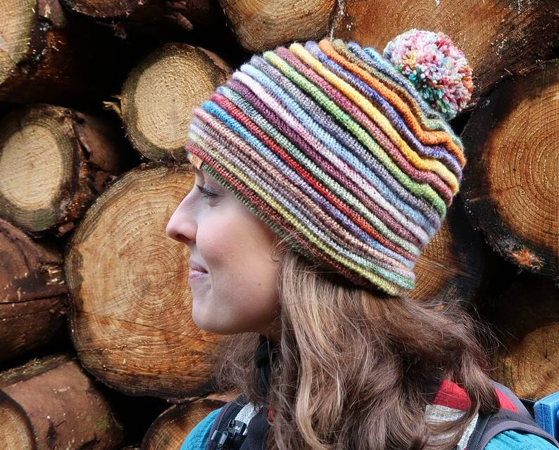 Wondering What To Knit With All Those Cute Little Minis? Make a 'Full Of Minis' Hat!