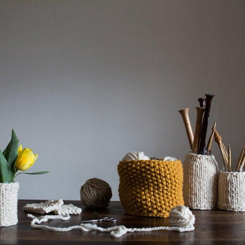 knitting patterns designed by Jennifer of Bromefields #knittng #housewarming