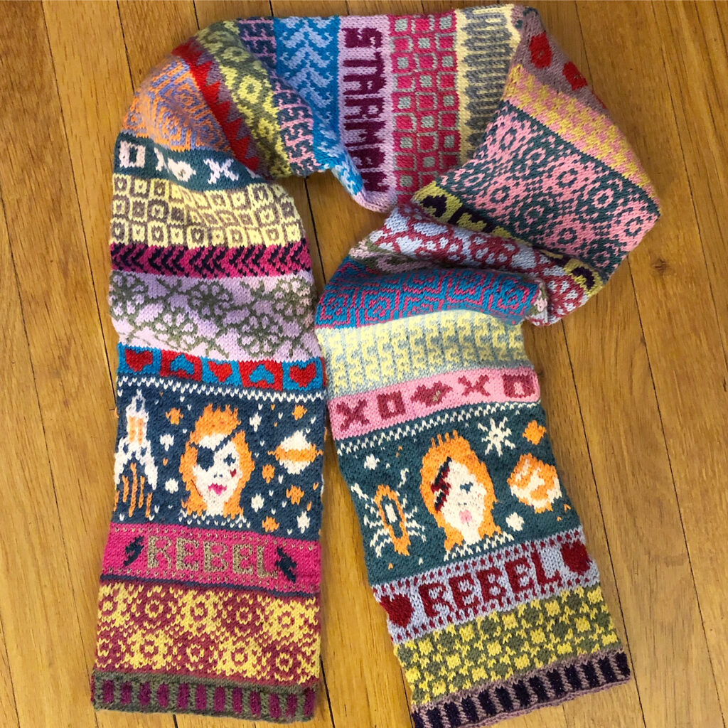 Knit a 'Rebel, Rebel' Scarf, Inspired By David Bowie ... Definitely a Contender For My Favorite Knitting Project Of The Year!