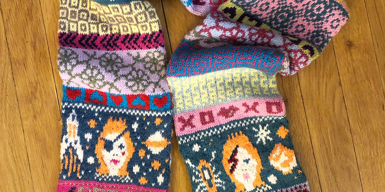 Knit a 'Rebel, Rebel' Scarf, Inspired By David Bowie … Definitely a Contender For My Favorite Knitting Project Of The Year!