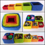 Free Pattern! Knit a Set of Square Nesting Boxes, Designed by Frankie Brown