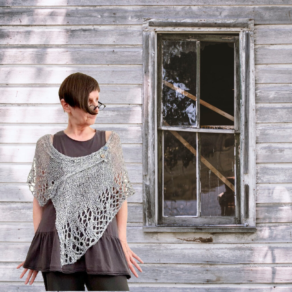 Looking For A Unique Project? Knit aa Asymmetrical 'Renelle' Shawl Designed by Petra Breakstone