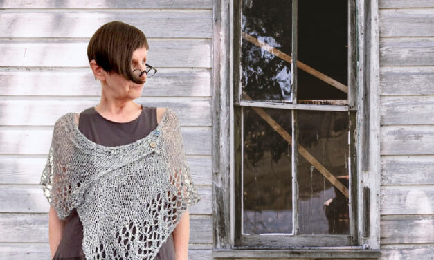 Looking For A Unique Project? Knit an Asymmetrical 'Renelle' Shawl Designed by Petra Breakstone