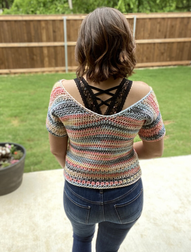 Crochet a Cute Summer Spell Top Designed By Kayla Boydston Of On A Whim Creations