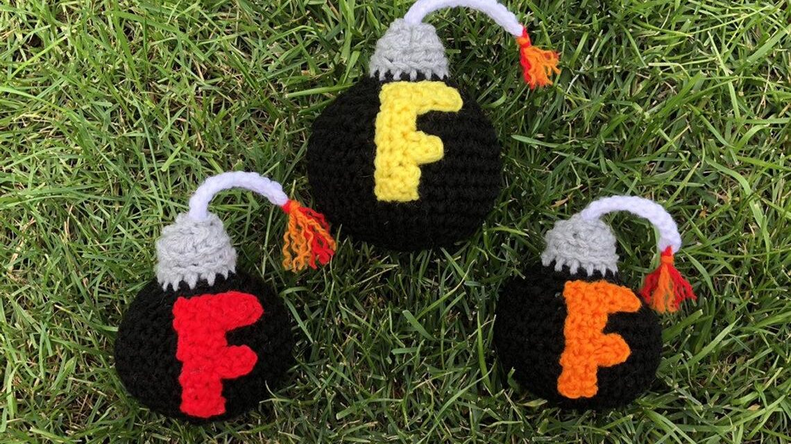 Time To Drop An F Bomb … Crochet Yarn Bomb That Is! They're LIT!