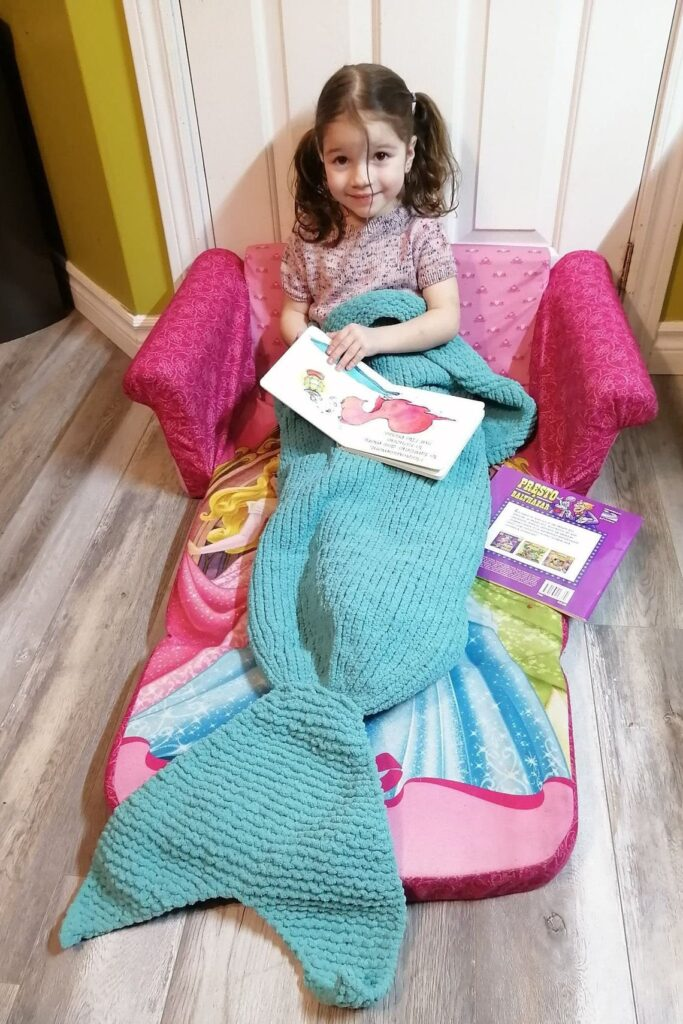 Finally ... A Mermaid Blanket For Knitters! So Clever & Cute, Makes A Perfect Gift!