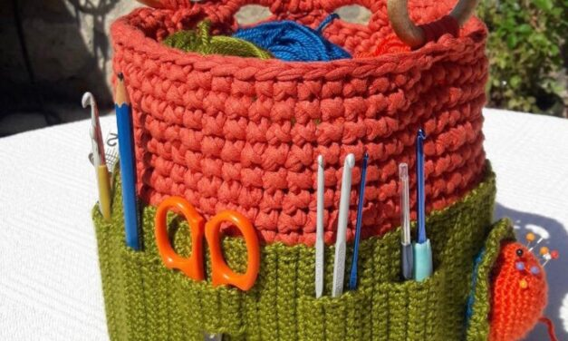 Organize Your Crochet Hooks With This Cute Crochet Caddy … Get The Pattern!