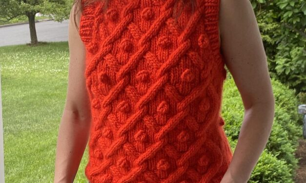 Knit A Crazy Love Chunky Cable Vest … Sleeveless Fun For Summer!