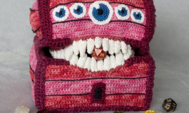 Crochet a Mimic Amigurumi Dice Tray – Perfect Accessory For Dungeons & Dragons Fans!