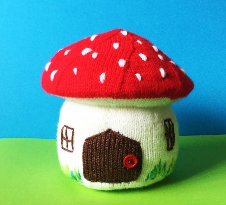 knit mushroom patterns