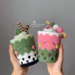 Amigurumi Treats! Crochet a Green Tea Matcha Latte and a Sakura Matcha Latte Too!