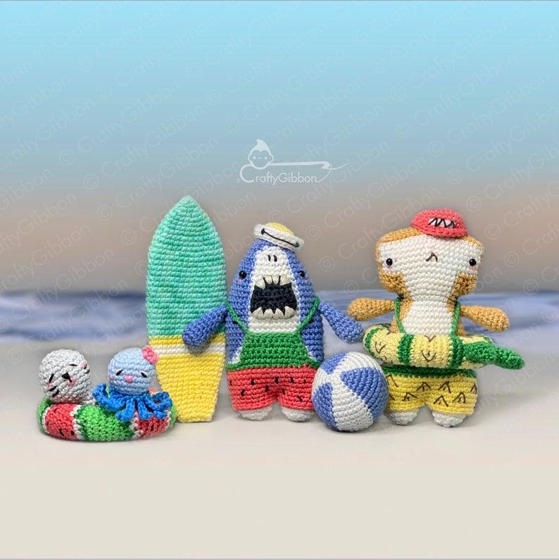 crochet amigurumi patterns designed by Anne of Crafty Gibbon