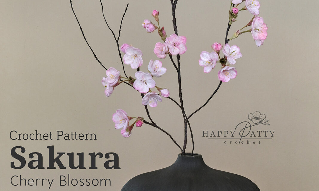 Crochet A Cherry Blossom Flower For Your Home … This Sakura Is A Classy Must-Make!