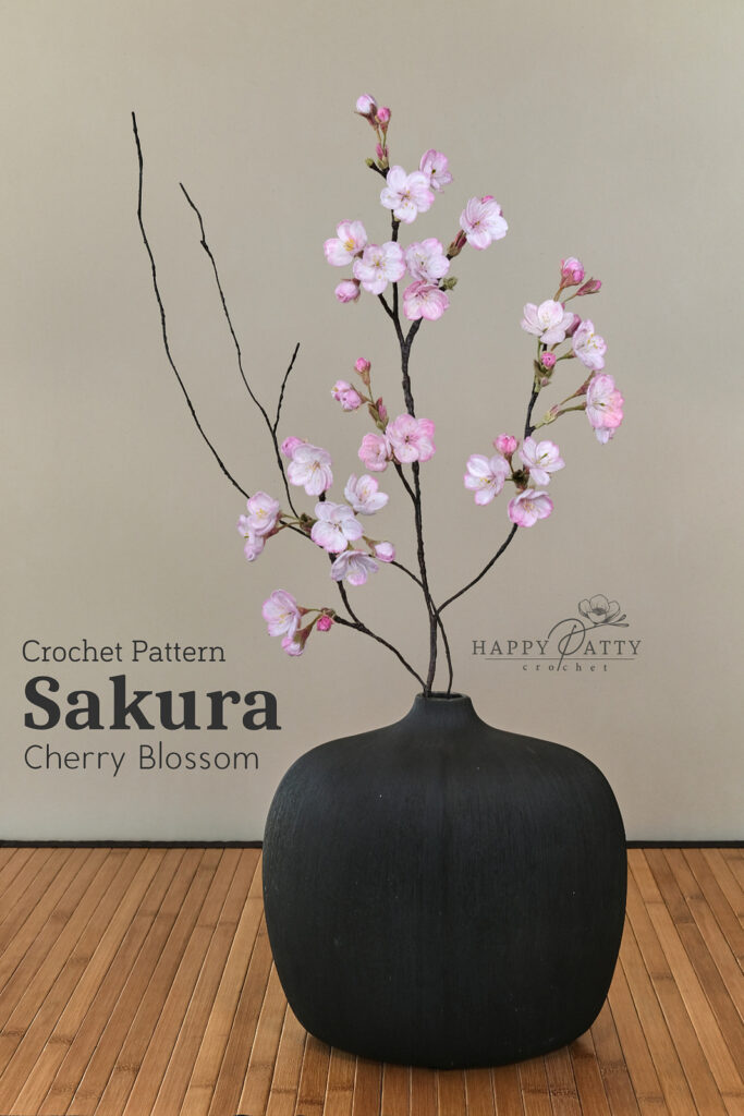 Crochet A Cherry Blossom Flower For Your Home ... This Sakura Is A Classy Must-Make!