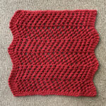 Looking For Quick Summer Knit? Make a 'Ziggy Dishcloth' Designed By Ashley Lambert-Maberly, The Pattern Is Free!
