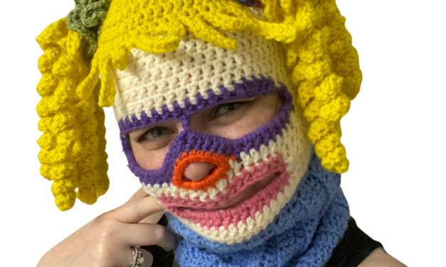 Crochet a Funky 70's Inspired Ski Mask / Face, Designed By Rebecca Turner