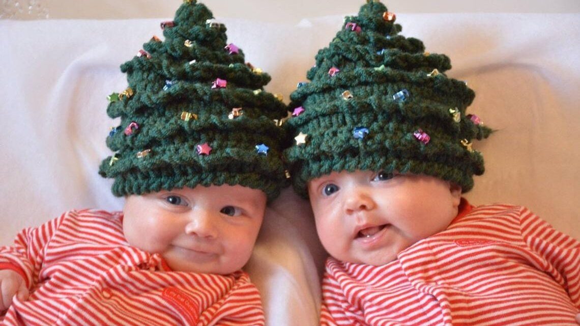 Christmas In July … Crochet a Beaded Christmas Tree Hat, Pattern Comes In 5 Sizes Newborn to Teen/Adult