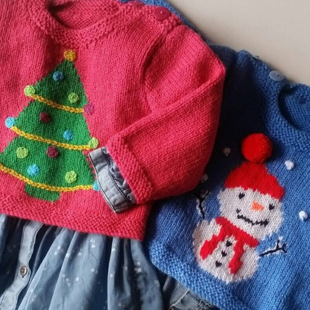 Christmas In July ... Knit A Couple Of Cute Sweaters ... Totally *Not* Ugly!