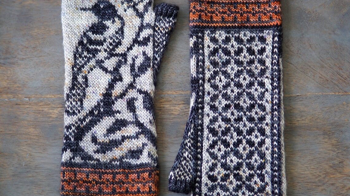 Knit a Pair of Springbound Mitts Featuring Orioles, Designed By Erica Heusser