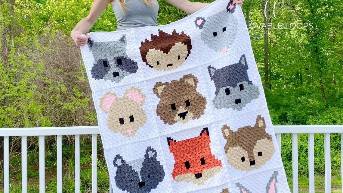 Christmas In July … Crochet An Adorable C2C Baby Blanket … It's So Animalicious!