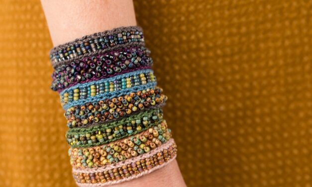 Christmas In July … Knit or Crochet Sophisticated Beaded Bracelets With A Mingle Cuff Kit From Laura Nelkin
