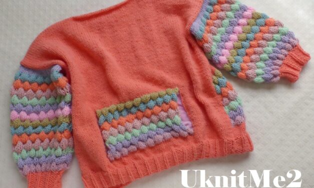 Knit An Oversized Bubbles Sweater … It's Slouchy, Colorful and FUN!