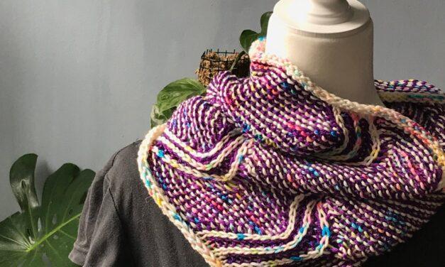 Knit An Off The Map Cowl Designed By Jessie Ksanznak … It's Ziggy Zaggy Fun!