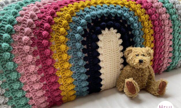 Popular Pattern Alert! Crochet a Granny Bobblina Rainbow Blanket Designed By Melu Crochet