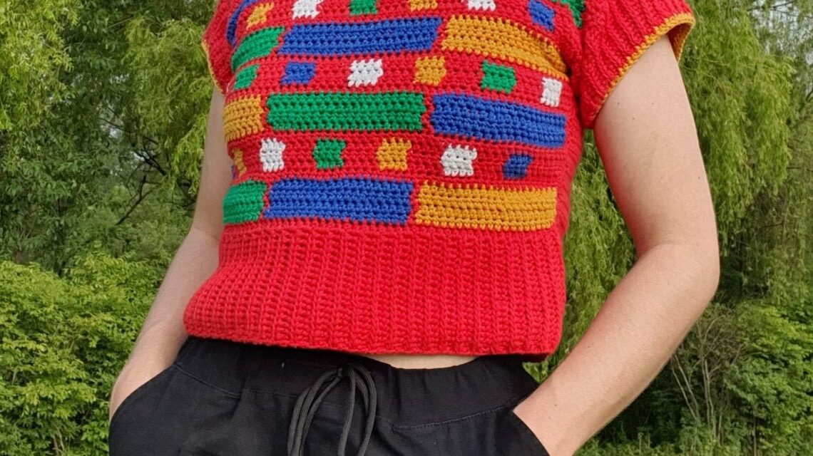 Christmas In July … Crochet A Block Party Tee Designed By Lindsey Of Just The Worsted