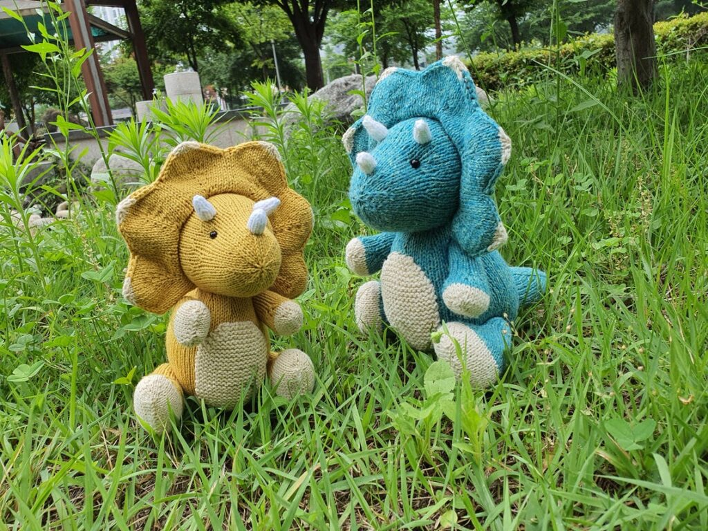 Christmas In July ... Knit A Triceratops For a Dino-Lover On Your List!