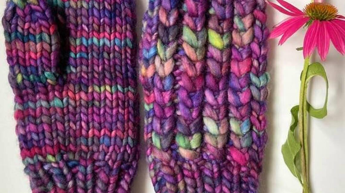Knit a Pair of Braided Hearts Mitts … Love This Look!